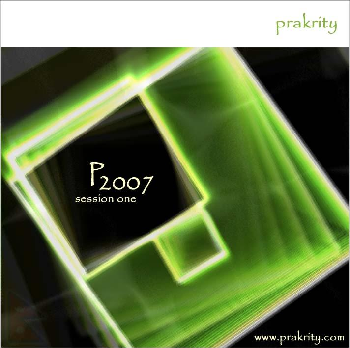 prakrity - p2007 session one -- cd cover - front
