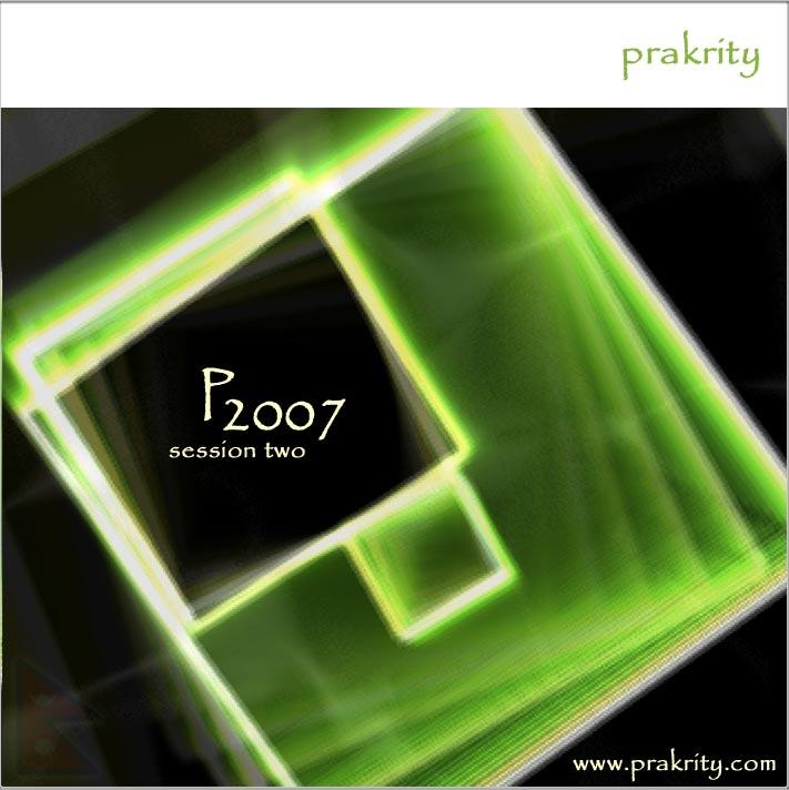 prakrity - p2007 session two -- cd cover - front