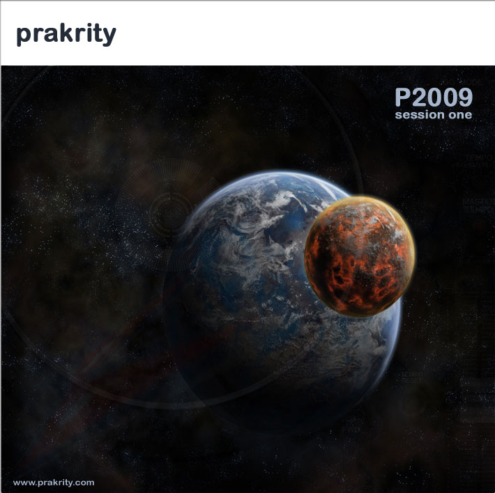 prakrity - p2009 session one -- cd cover - front
