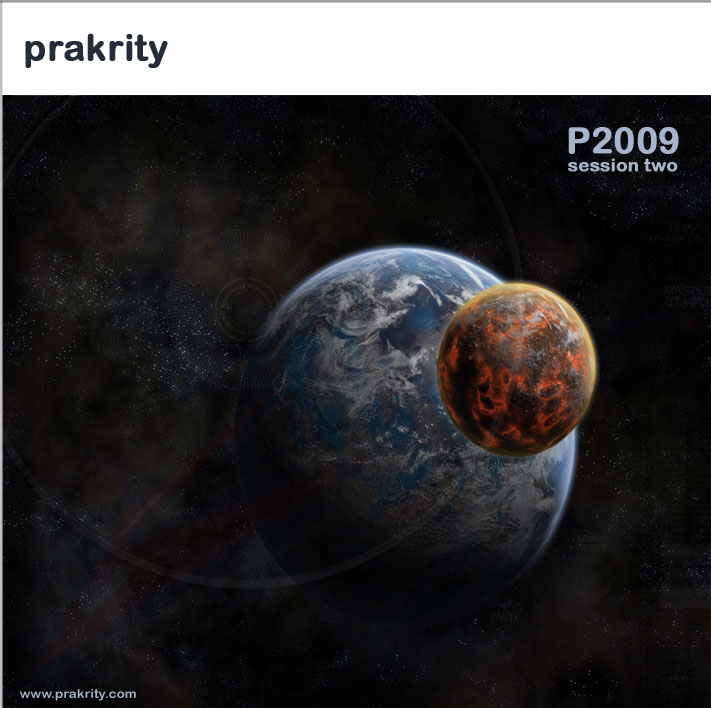 prakrity - p2009 session two -- cd cover - front