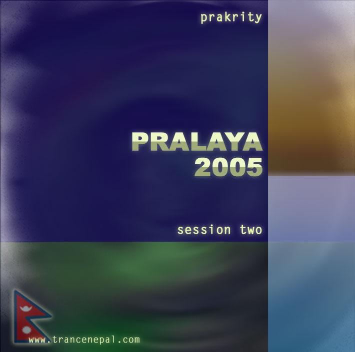 prakrity - pralaya 2005 session two -- cd cover - front
